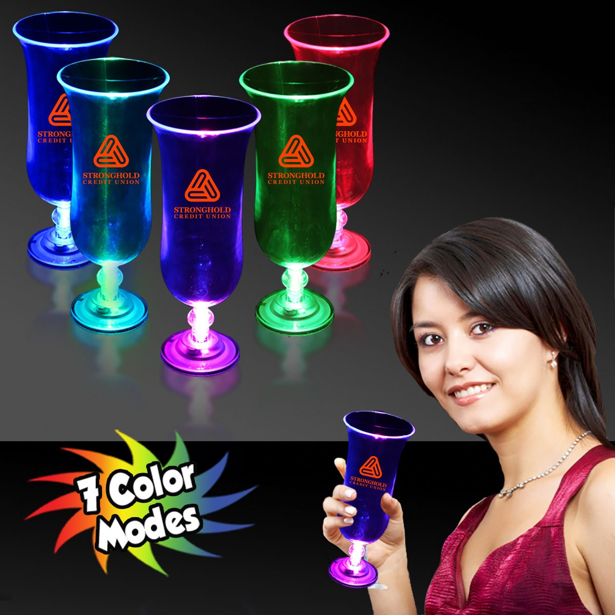 LIGHT-UP 7COLOR HURRICANE CUP