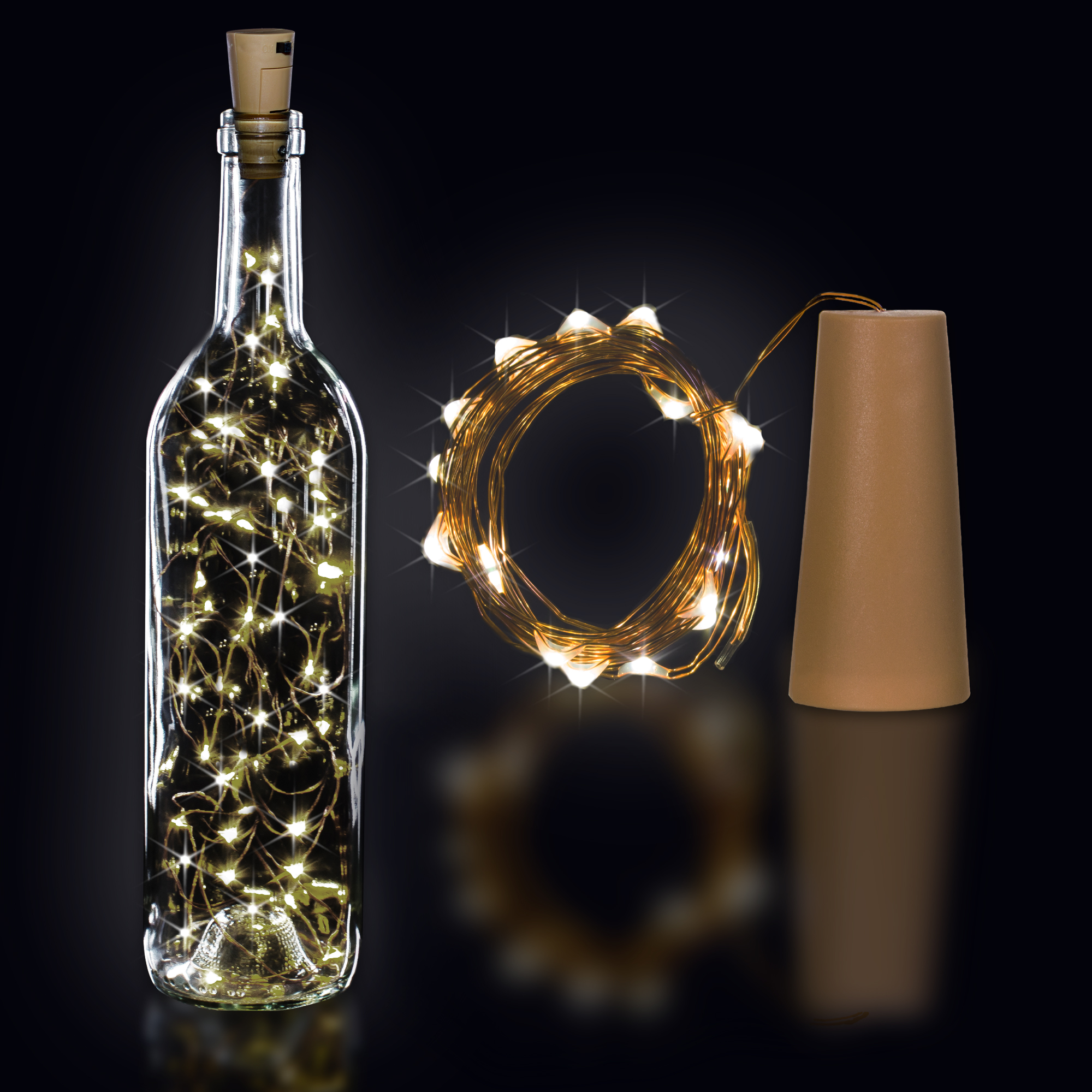 CORK STRING LIGHT SET-WARM WHT