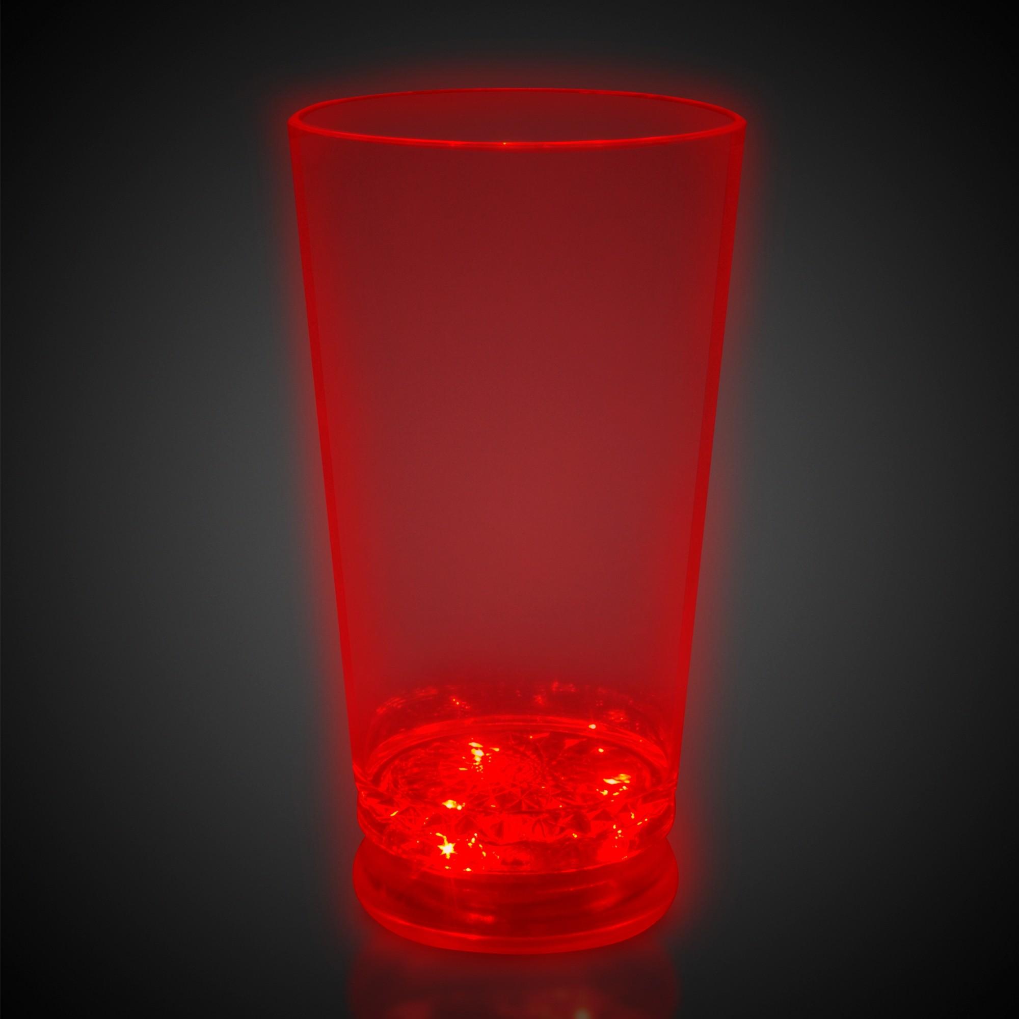LIGHT-UP PINT GLASS WRED BASE