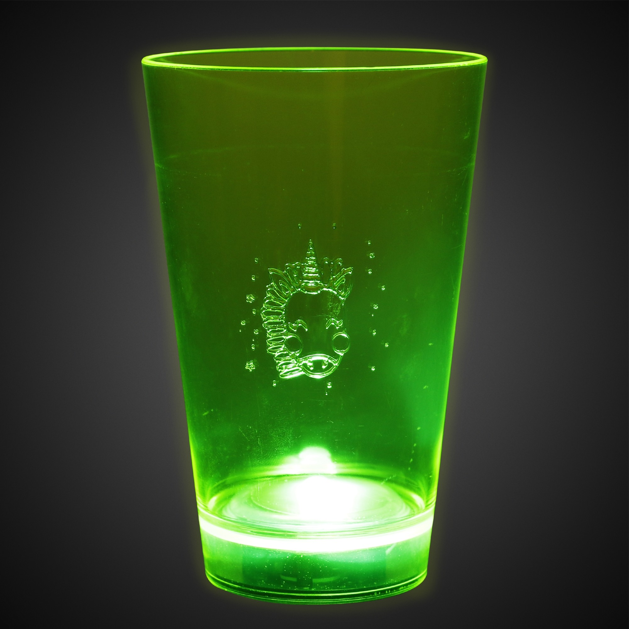 GREEN - 12OZ NEON LU GLASS
