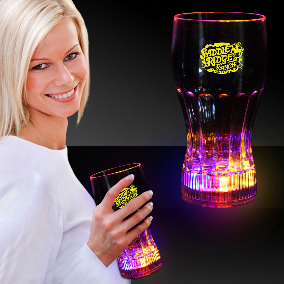 12 OZ. FLASHING DRINK GLASS