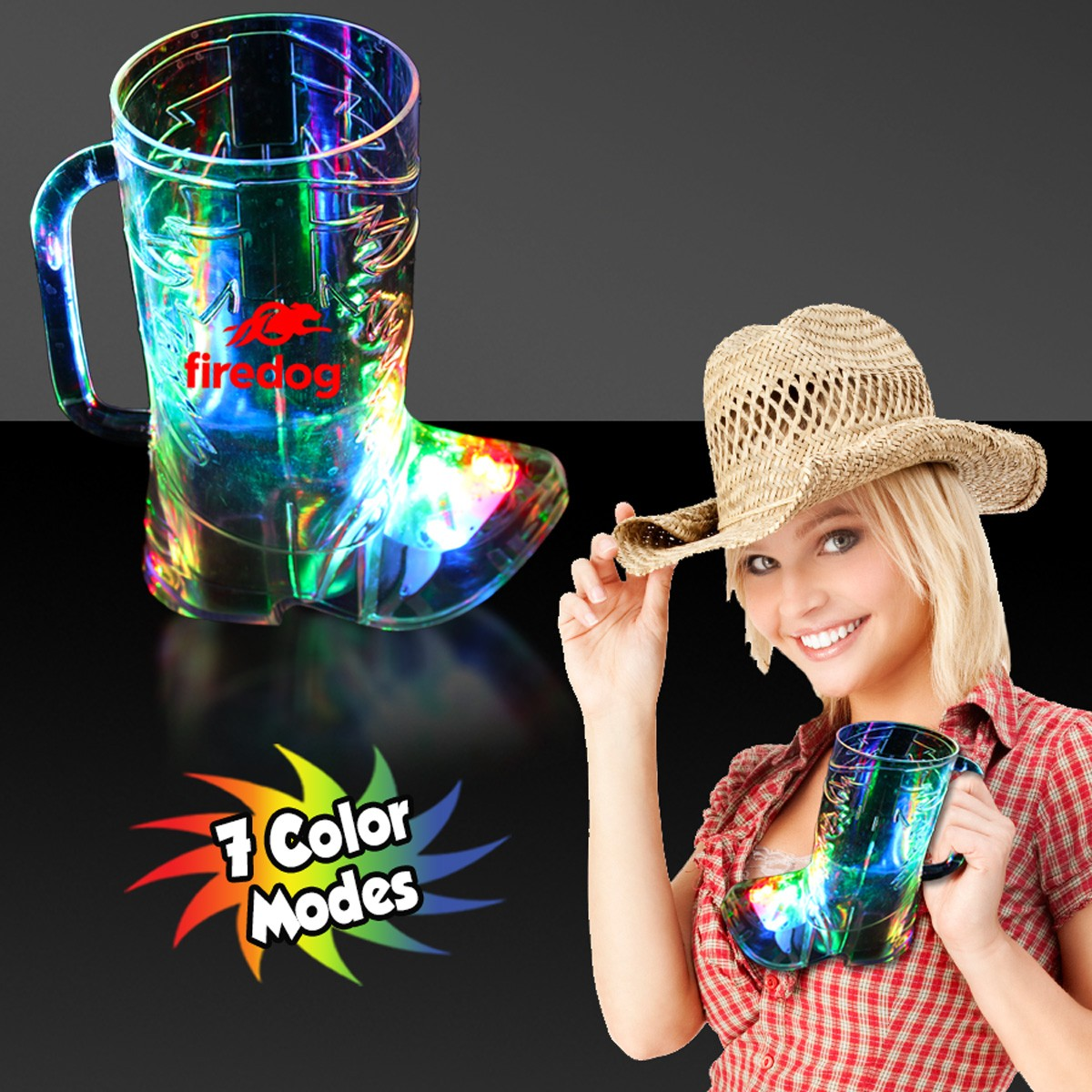 COWBOY BOOT LIGHT-UP CUP