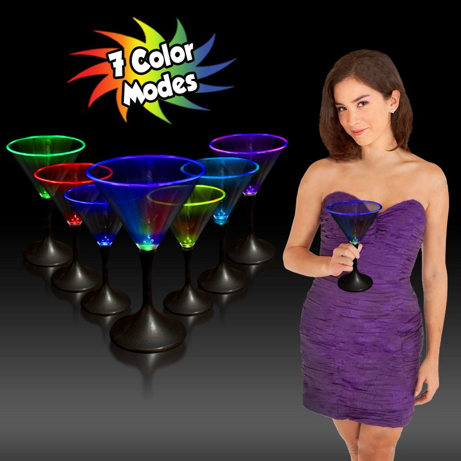 7-COLOR CLEAR MARTINI-BLK BASE