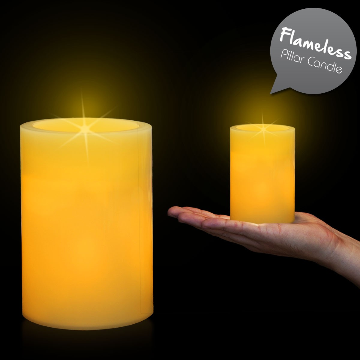 4 14 INCHES PILLAR LED CANDLE