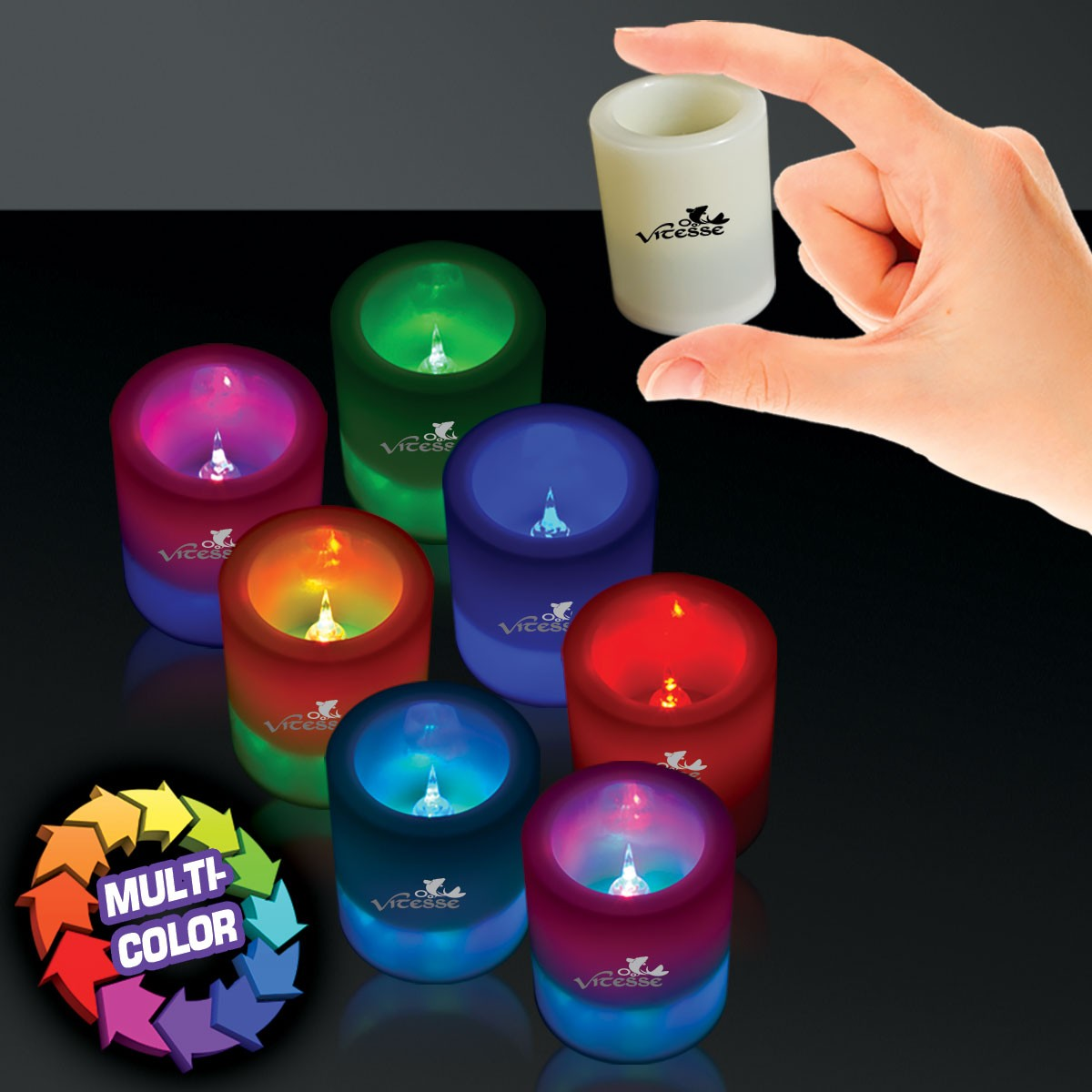 7-COLOR LED VOTIVE CANDLE