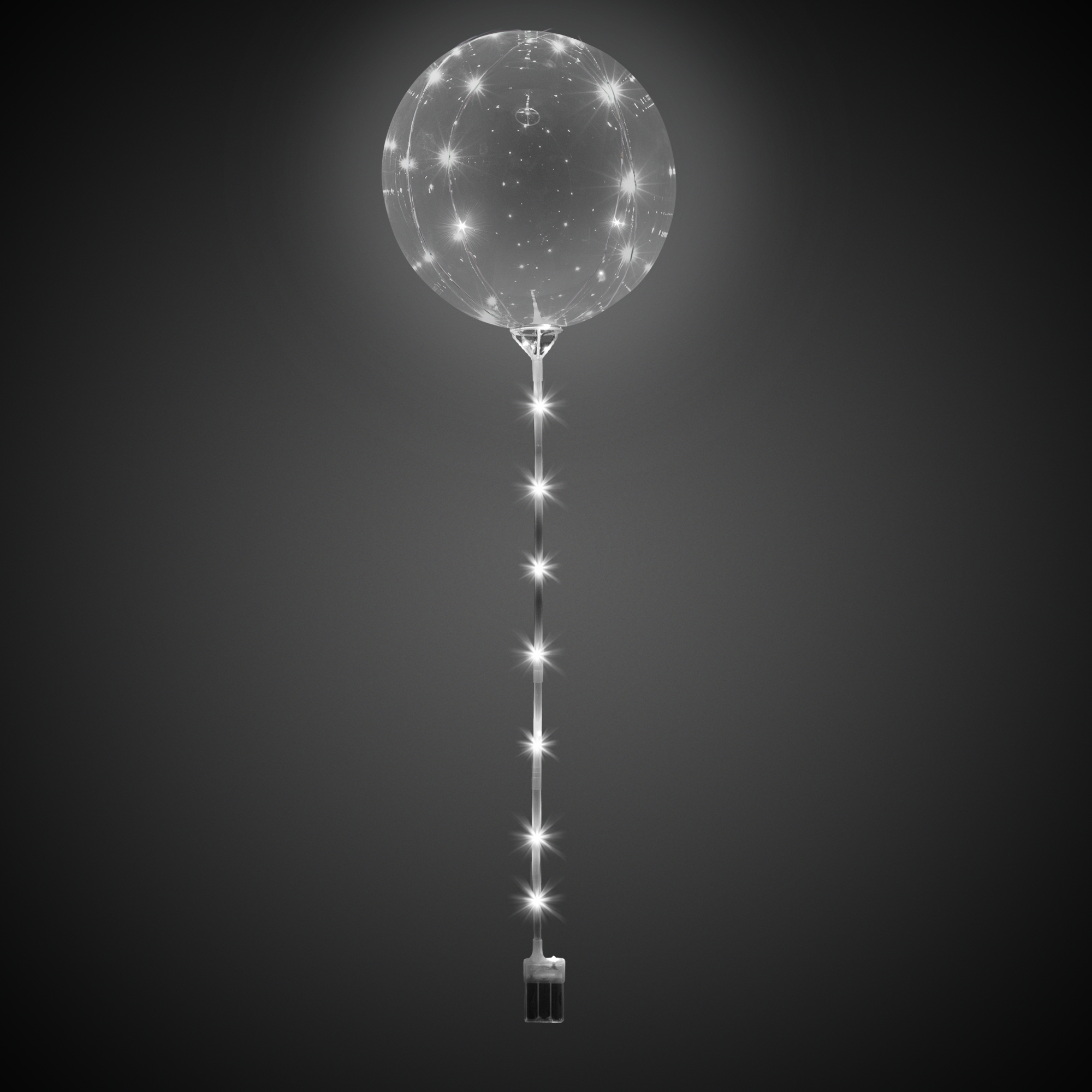 LOLLIPOP BALLOON -WHITE LEDS