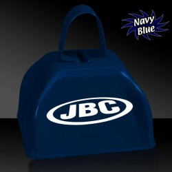 3 INCHES NAVY BLUE METAL COWBELL