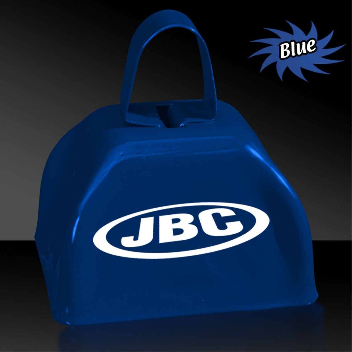 3 INCHES BLUE METAL COWBELL