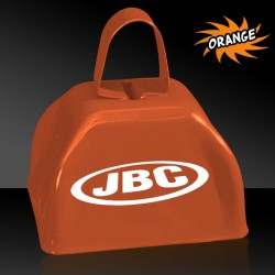 3 INCHES ORANGE METAL COWBELL