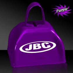3 INCHES PURPLE METAL COWBELL