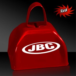 3 Inch Red Metal Cowbell