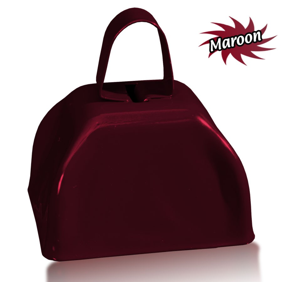 3 INCHES MAROON METAL COWBELL