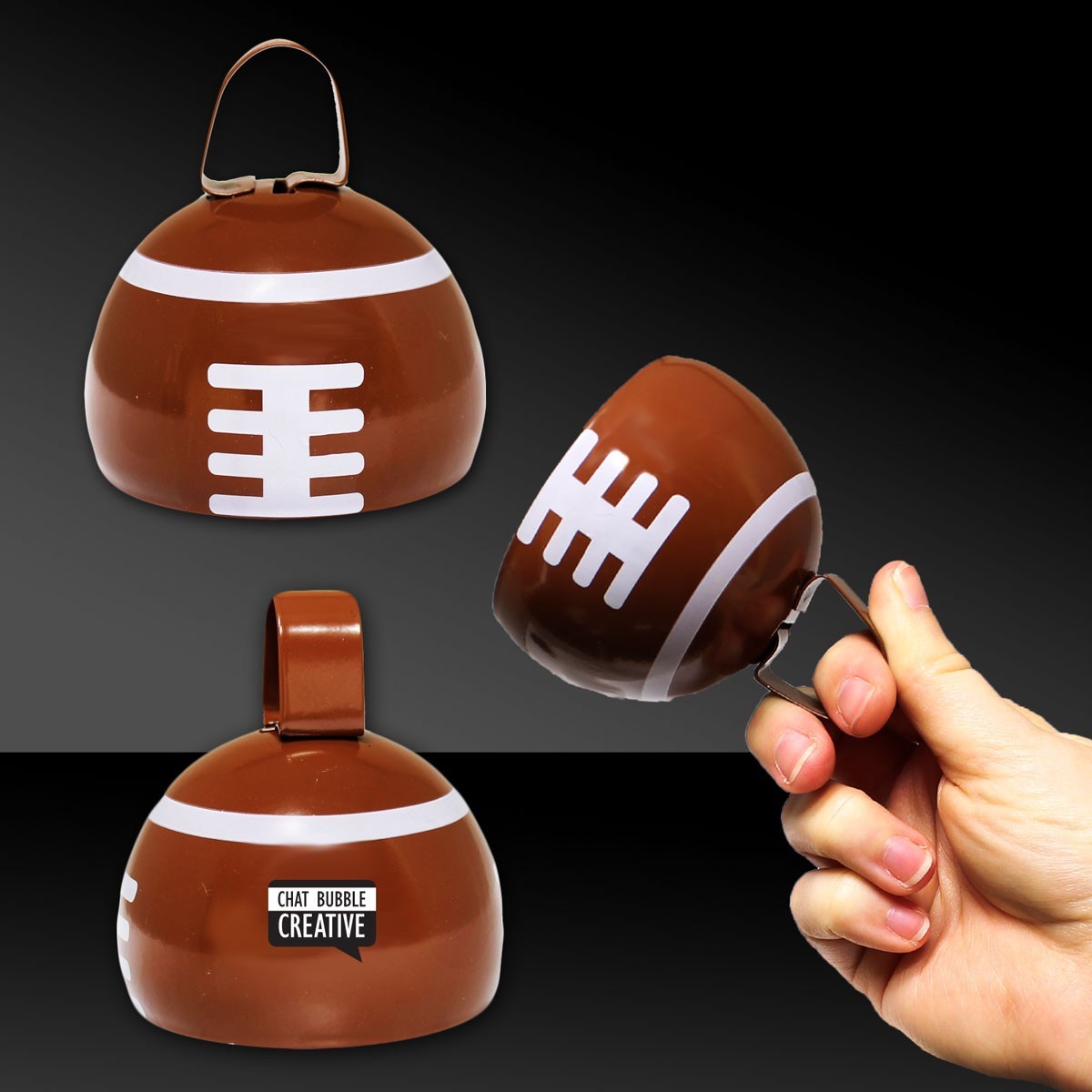 3.5 INCH FOOTBALL COWBELL