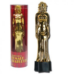 9 Inch Gold Female Statue
