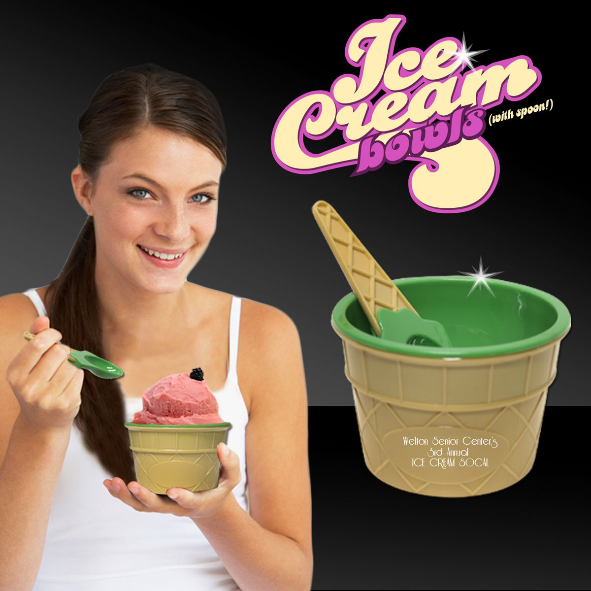 LT. GREEN ICE CREAM BOWLS W