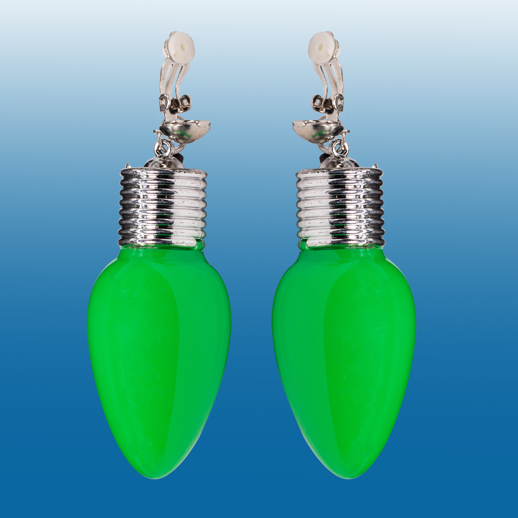 GREEN BULB LED EARINGS