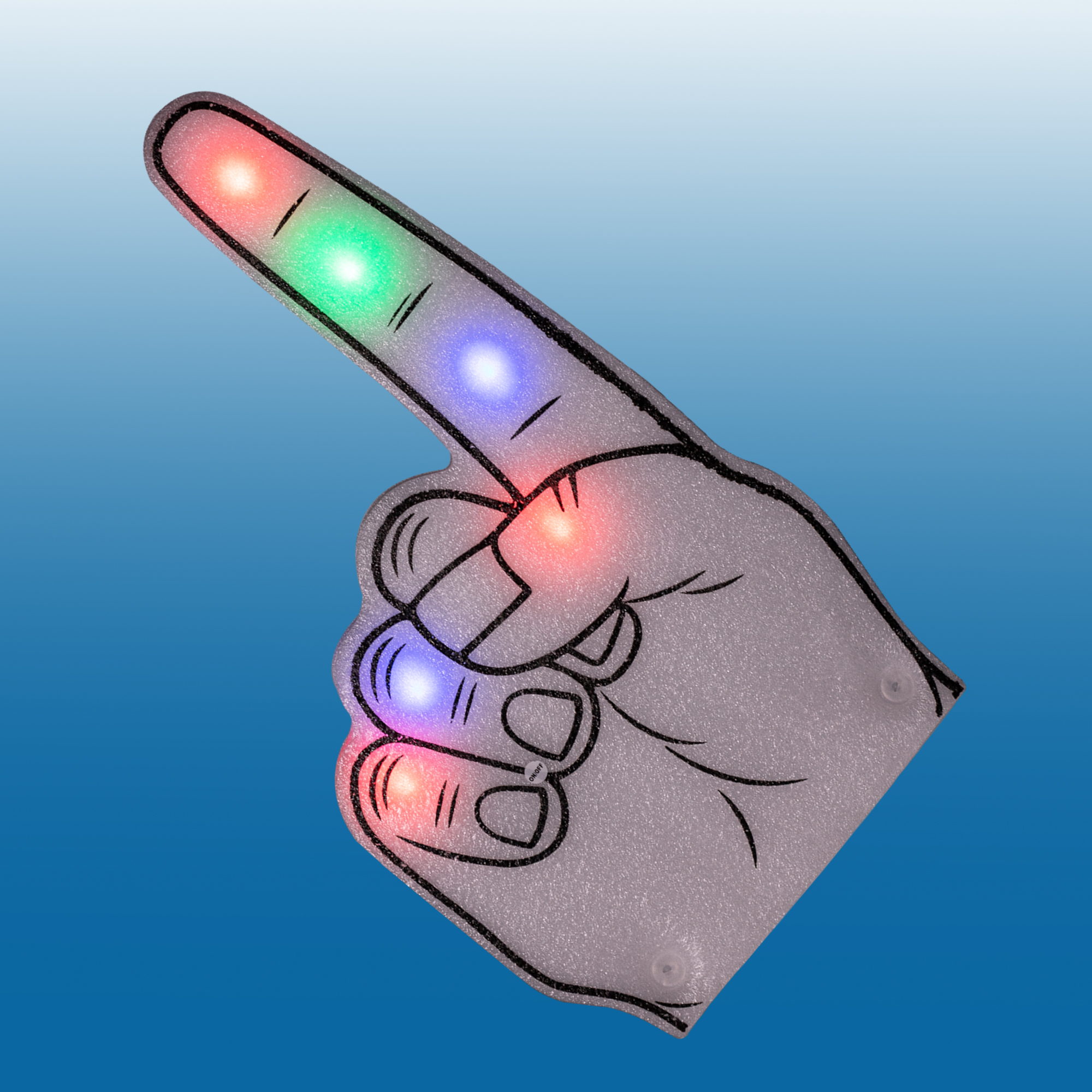 Fun Central AI631 LED Light Up Foam Finger - Multicolor