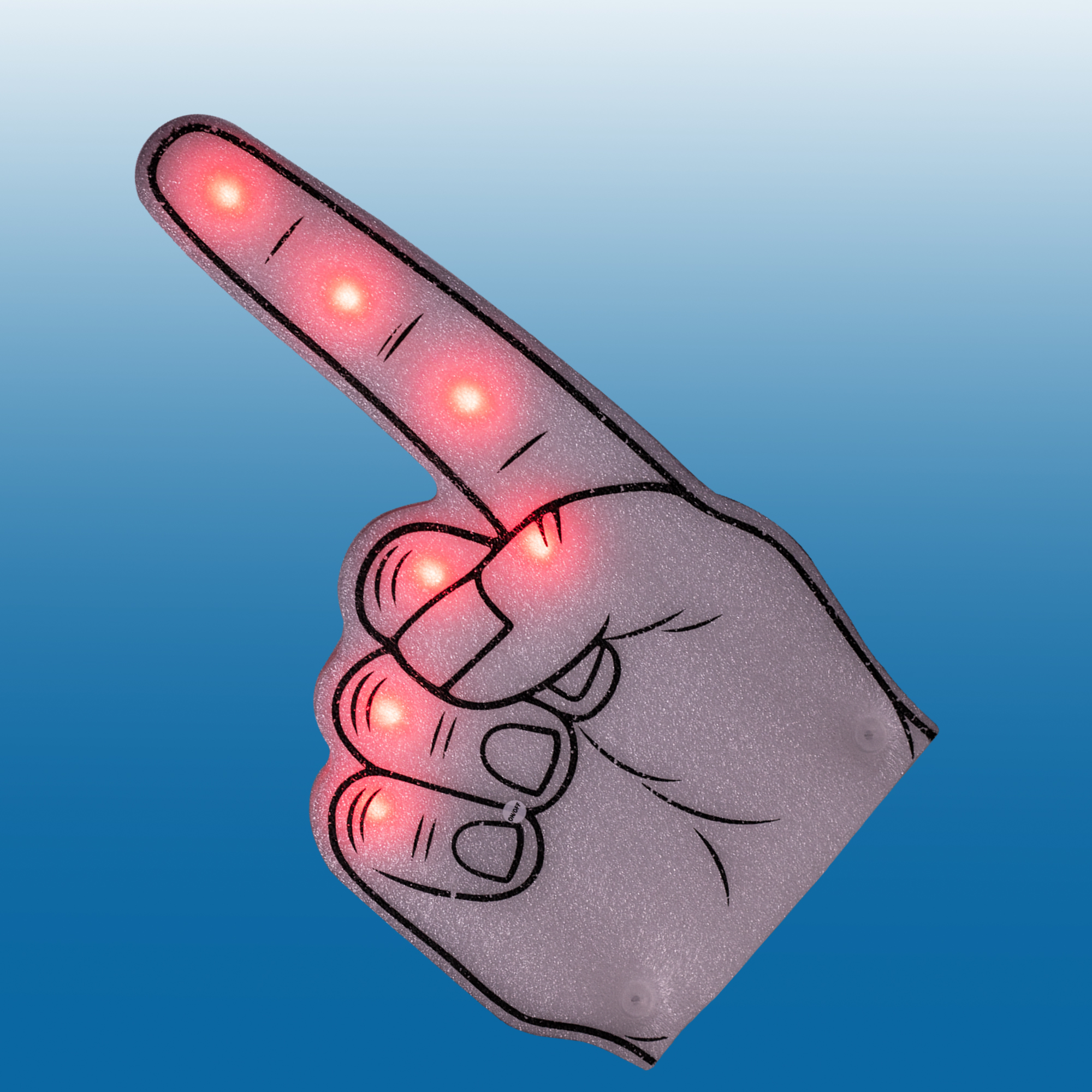 Fun Central AI632 LED Light Up Foam Finger - Red