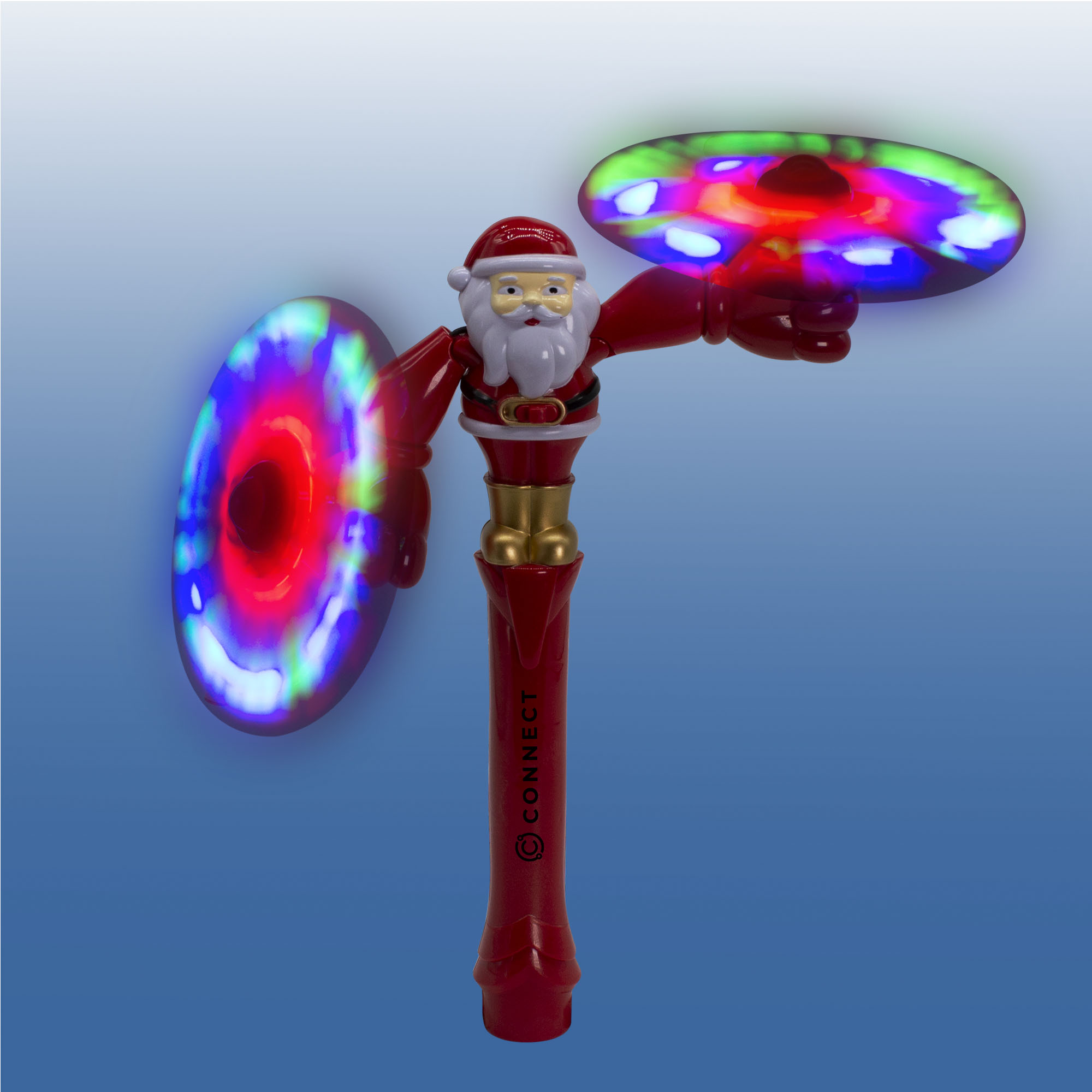SANTA LU SWIVEL DUAL SPINNER