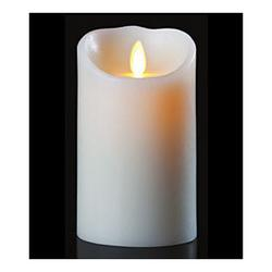 3.5x7 Inch Remote Control Luminara Candles - White - 6 Pack