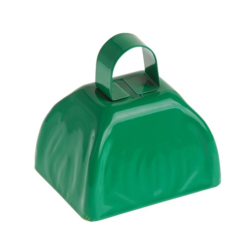 School Spirit Metal Cowbells Green
