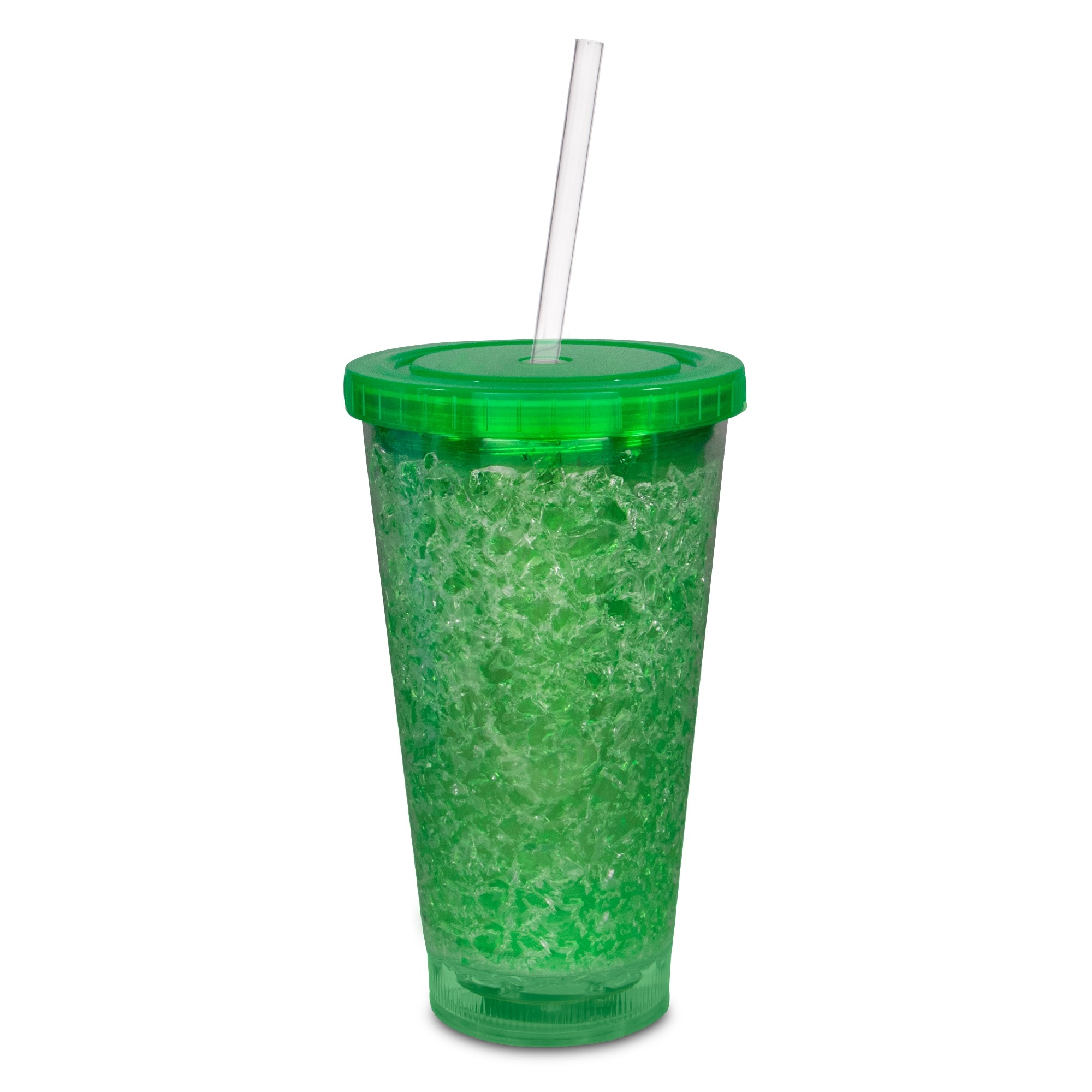 16OZ GREEN CRYSTAL TUMBLER W