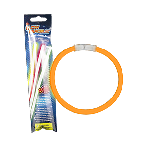 Fun Central C045 8 Inch Retail Packaged Glow in the Dark Bracelets - Orange
