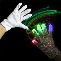 MULTI-LED SEQUIN GLOVE-RT HAND