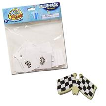 CHECKERED RACING FLAG PINS