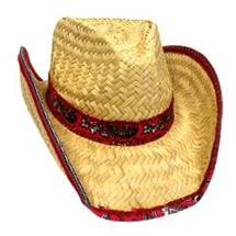 ADULT COWBOY HAT WFABRIC TRIM
