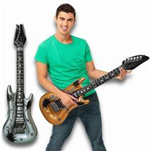 40 INCH INFLATABLE GOLD AND SILVER GUITAR