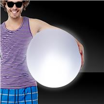 30 INCH LITE-UP BEACH BALL-WHITE