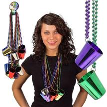 33 INCH SHOT GLASS NECKLACES