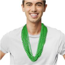 33 INCH GREEN ROUND BEAD NECKLACE