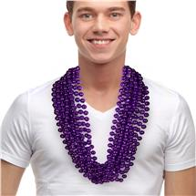 33 INCH PURPLE METALLIC BEAD NECKLACES