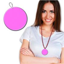 63.5MM PINK PLASTIC MEDALLION