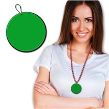 63.5MM GREEN PLASTIC MEDALLION