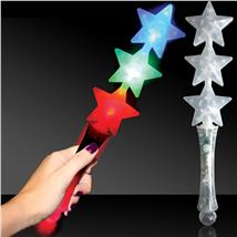 TRIPLE STAR LED LIGHT UP WAND