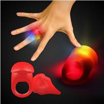 RED JELLY BUTTON RING WLEDS