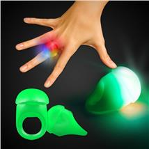 GREEN JELLY BUTTON RING WLEDS