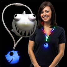 LED SQUEEZE SHARK LANYARD NECKLACE