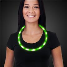 NEON GREEN-USB LED NECKLACE-