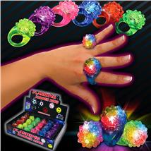 LITE UP FLOWER RING ASST COLOR
