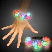 CLEAR-3 PORCUPINE LED BRACELET