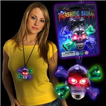 SKULL LU NECKLACE- MULTI LEDS