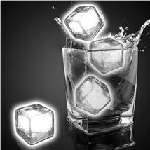 WHITE LED-CLEAR ICE CUBE