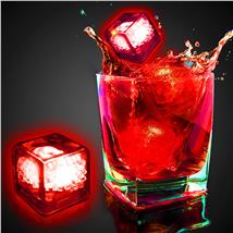 RED LED-CLEAR ICE CUBE