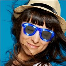 SQUARE LED SUNGLASSES - BLUE