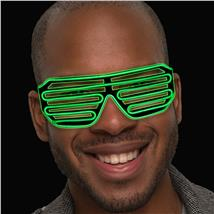 GREEN SLOTTED EL GLASSES-SOUND