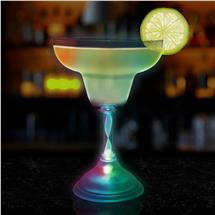 MARGARITA GLASS - 7 COLOR LED